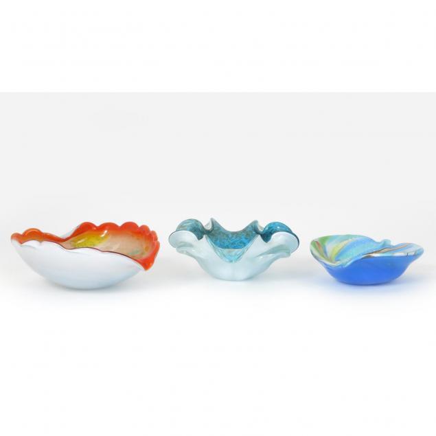 three-mid-century-murano-glass-bowls