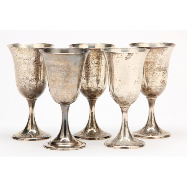 four-sterling-silver-water-goblets