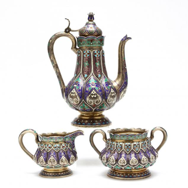 a-russian-silver-gilt-cloisonne-enameled-coffee-set