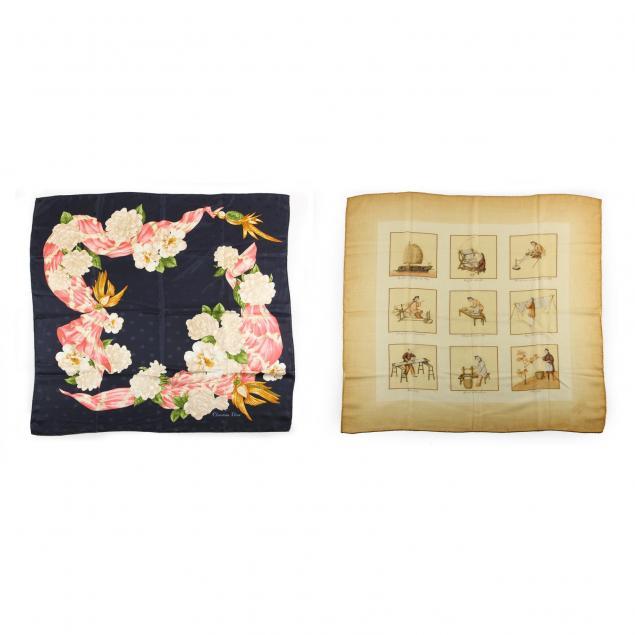 two-fashion-silk-scarves