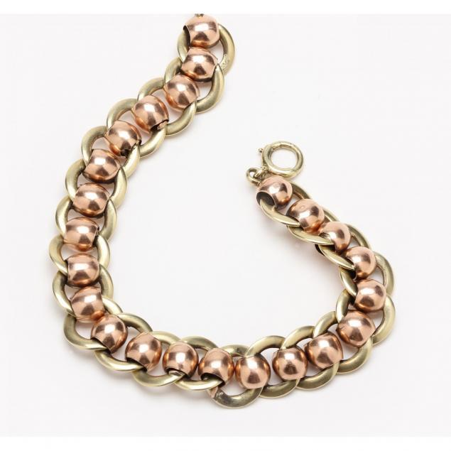 vintage-14kt-two-color-gold-bracelet