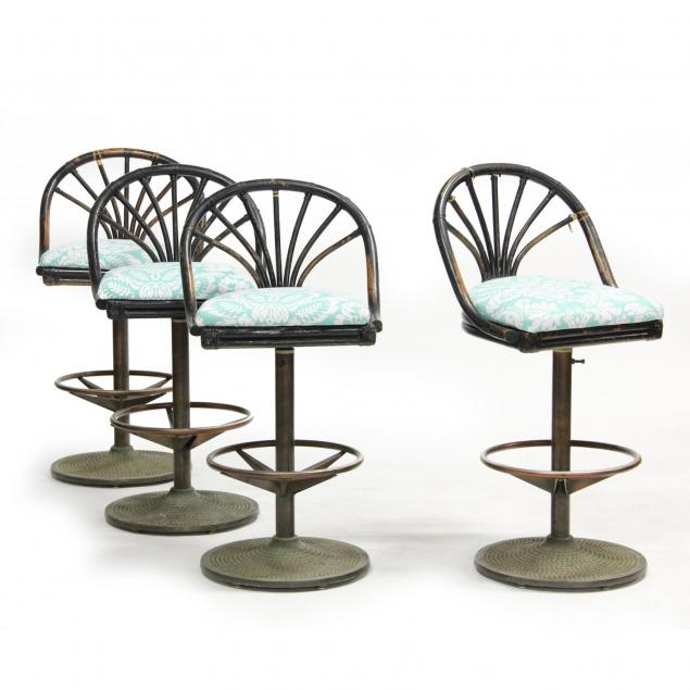 shelby-williams-set-of-four-faux-bamboo-bar-stools