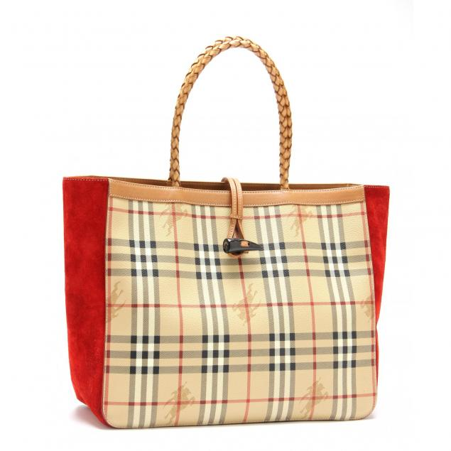 haymarket-plaid-large-shopping-tote-burberry