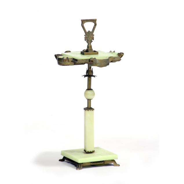 art-deco-slag-glass-smoking-stand