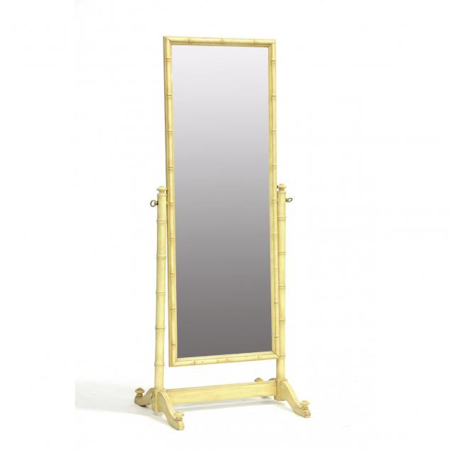 faux-bamboo-cheval-mirror