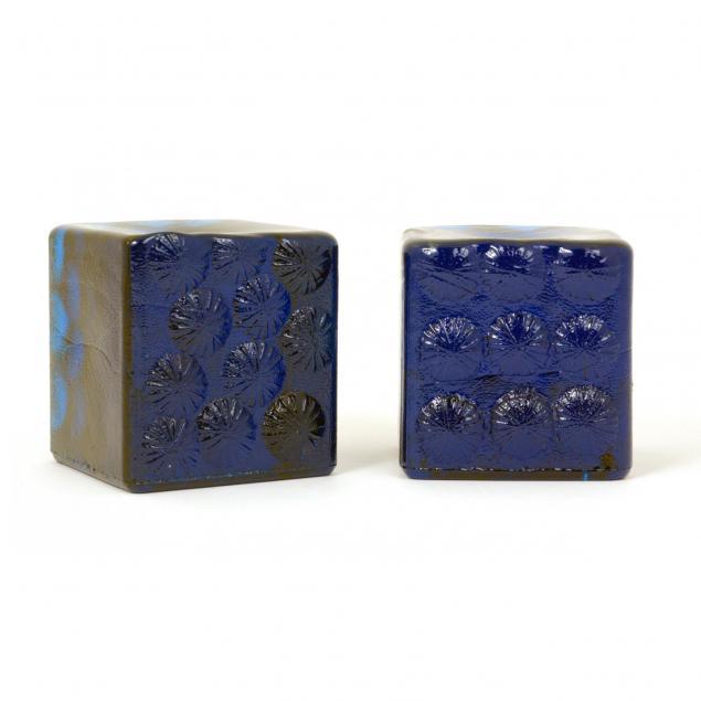 blenko-pair-of-blue-glass-bookends