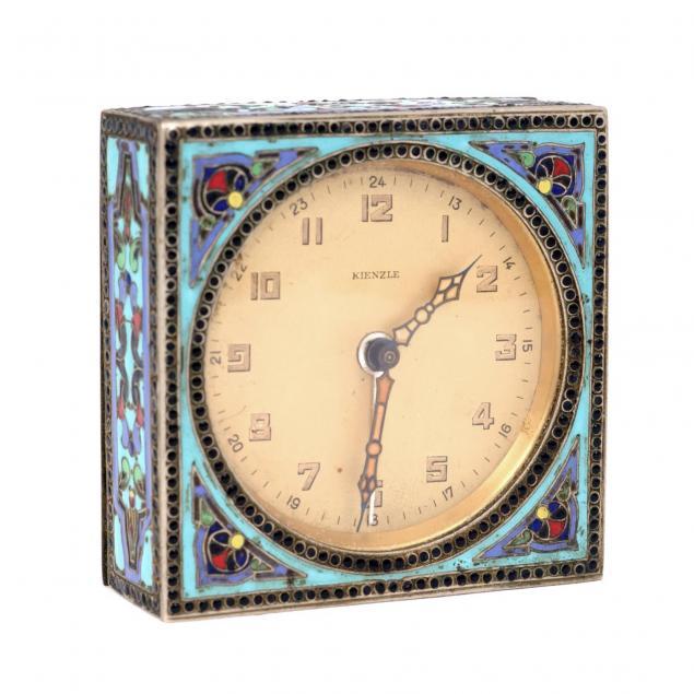 kienzle-art-deco-enameled-alarm-clock