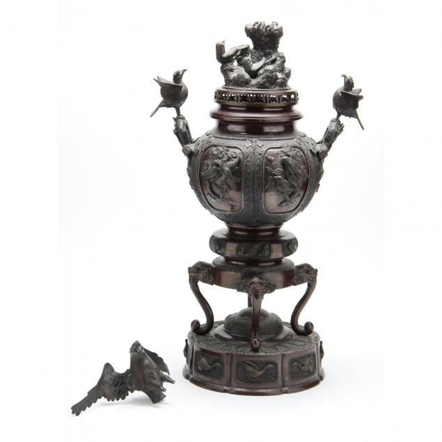 a-large-japanese-meiji-period-bronze-censer
