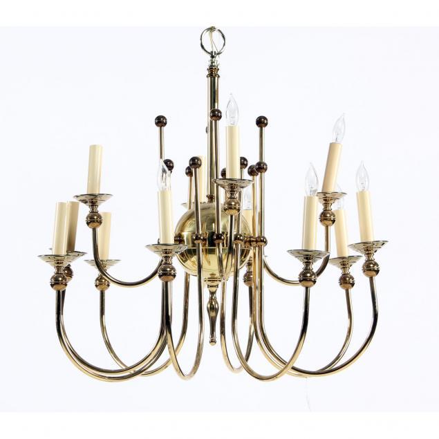 mid-century-modernist-brass-chandelier