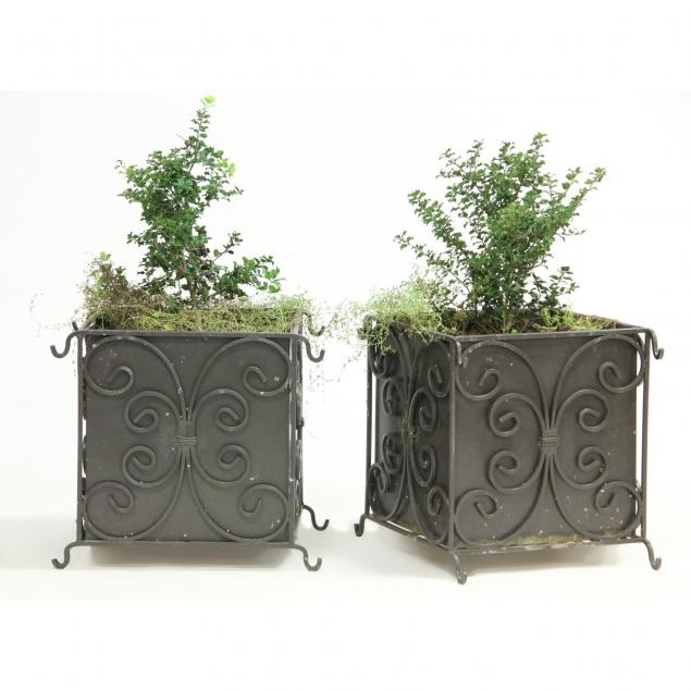 pair-of-wrought-iron-architectural-planters