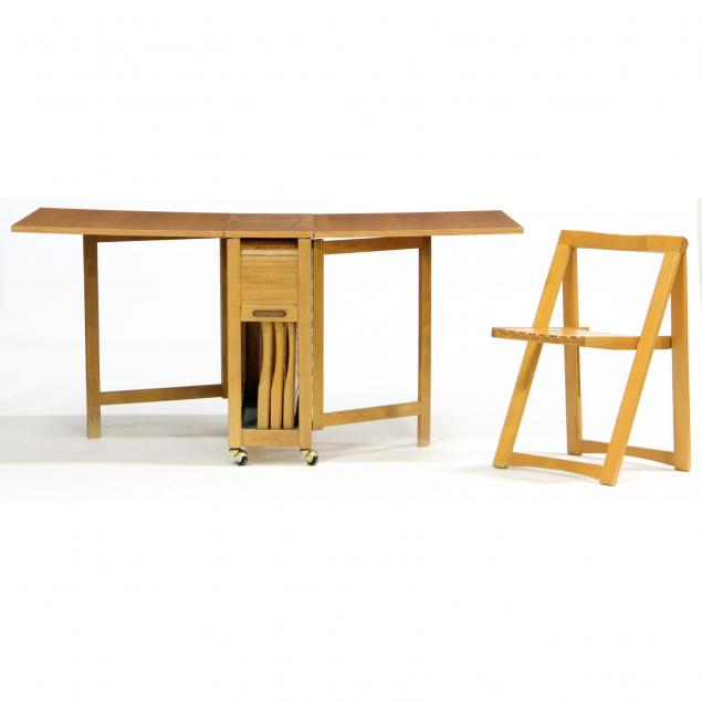 danish-modern-drop-leaf-table-with-chairs