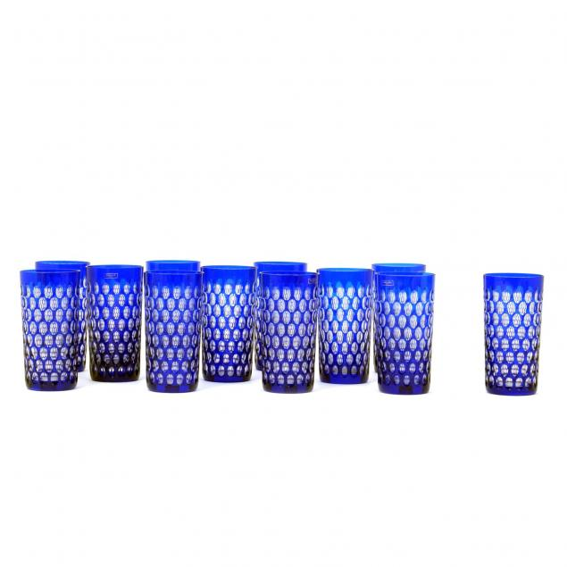 set-of-12-st-louis-cleopatre-blue-highball-glasses