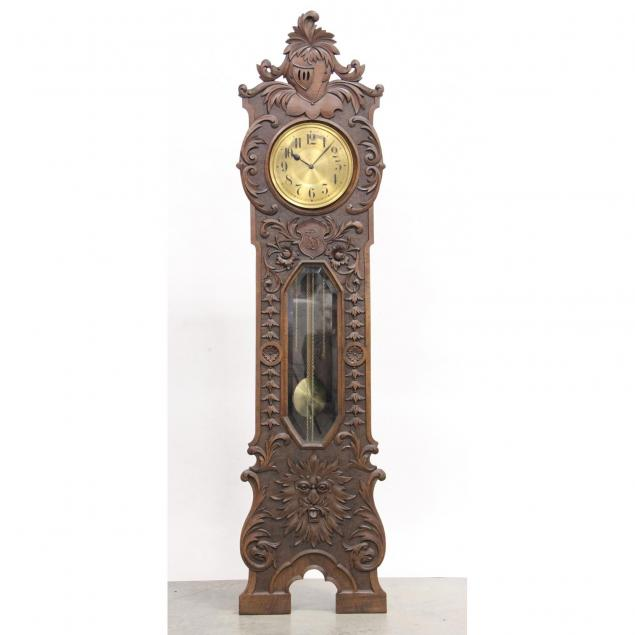continental-carved-walnut-tall-case-clock