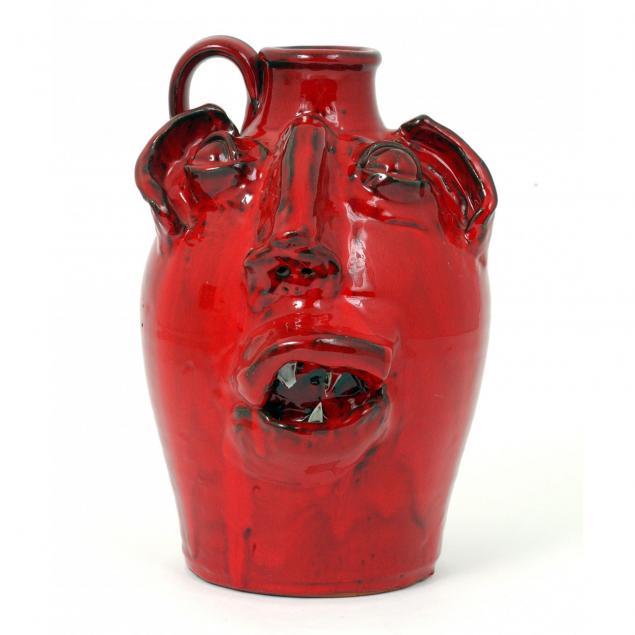 nc-folk-pottery-m-l-owens-face-jug