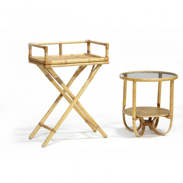 two-modernist-bamboo-tables