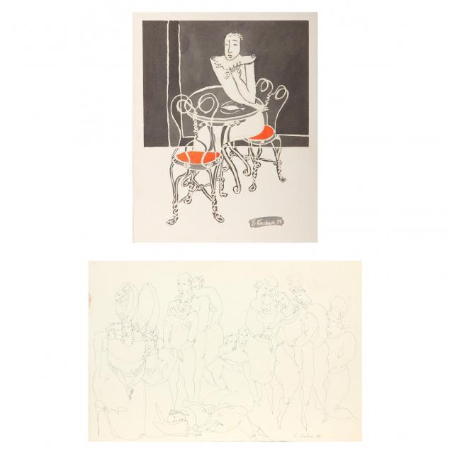 ernst-kirchner-german-1880-1938-two-lithographs