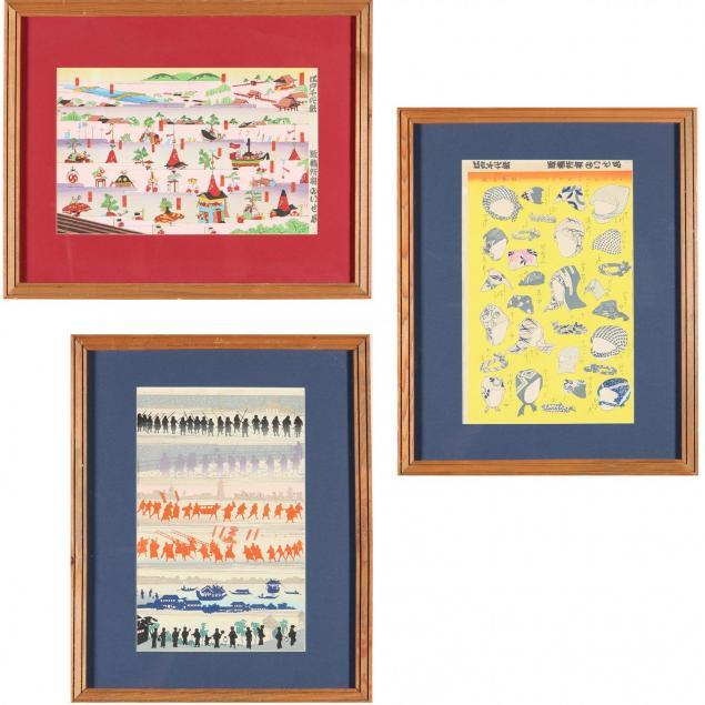 set-of-three-asian-woodblock-prints