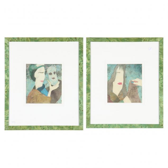 yuji-hiratsuka-japan-20th-century-pair-of-color-etchings