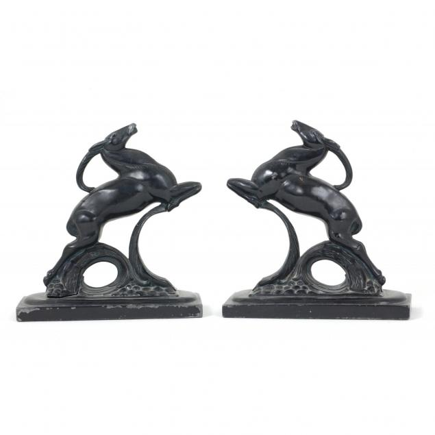 pair-of-art-deco-impala-bookends
