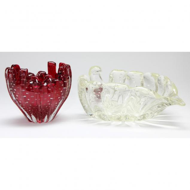 barovier-and-toso-two-glass-bowls