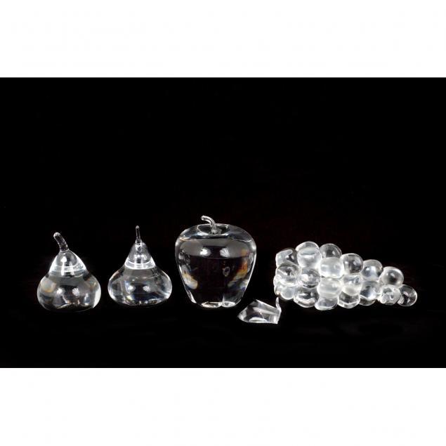 four-steuben-glass-fruit