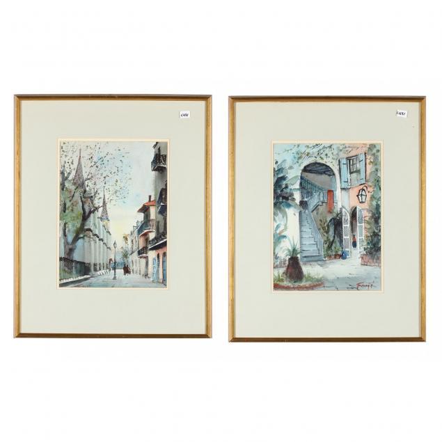 nestor-fruge-la-1914-16-2011-12-two-new-orleans-watercolors