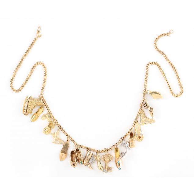 gold-shoe-charm-necklace
