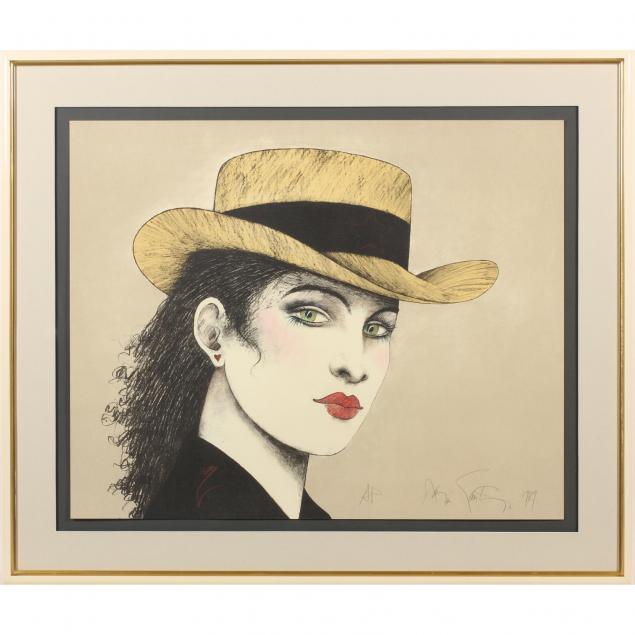 ramon-santiago-ny-1943-2001-woman-in-hat