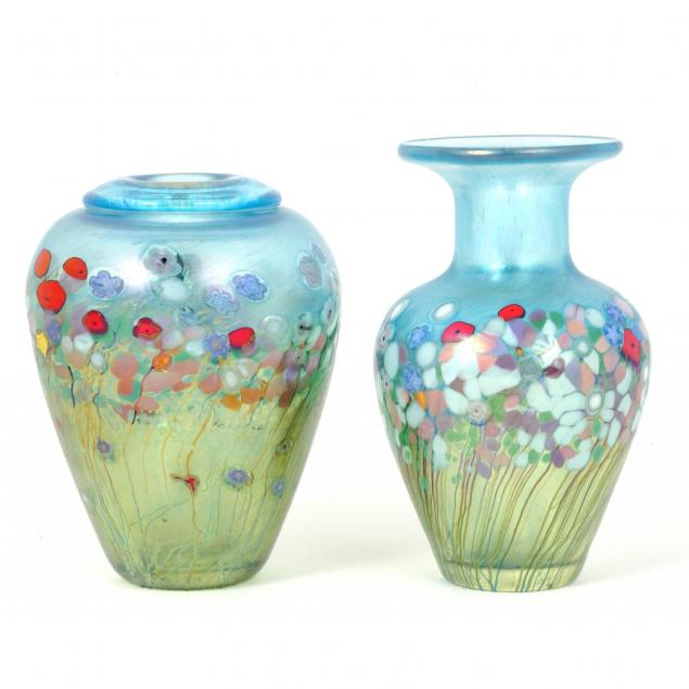 robert-held-canadian-20th-century-two-floral-bouquet-vases