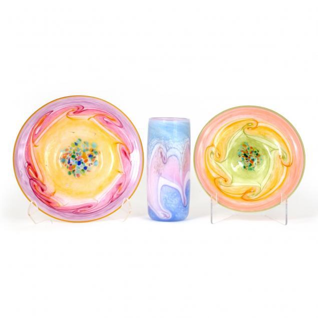three-pieces-of-bermuda-art-glass