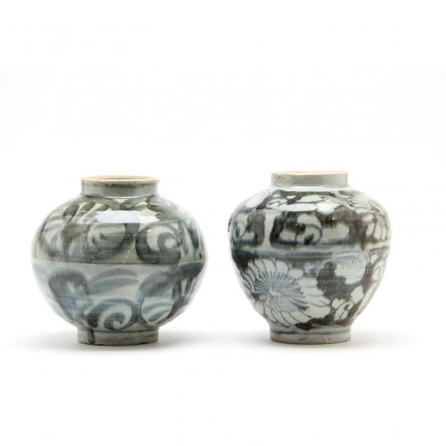 pair-of-asian-blue-and-gray-vases