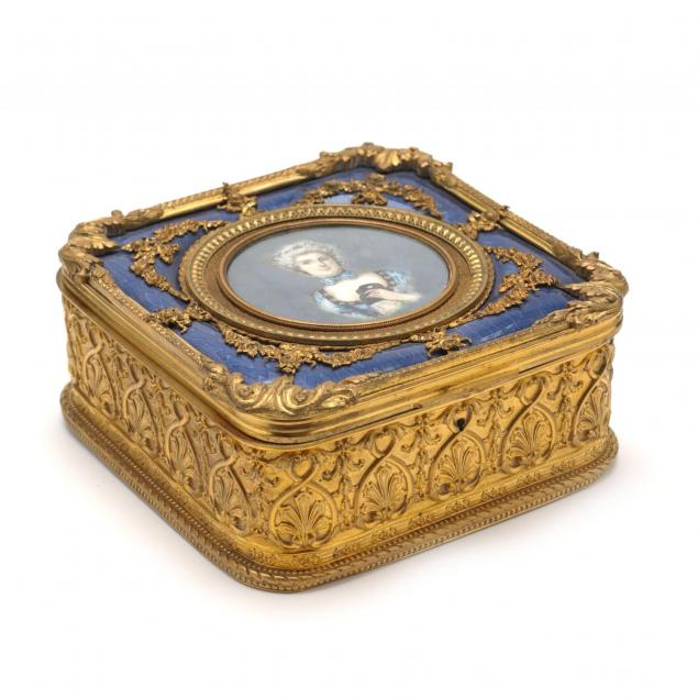 french-gilt-metal-and-porcelain-dresser-box