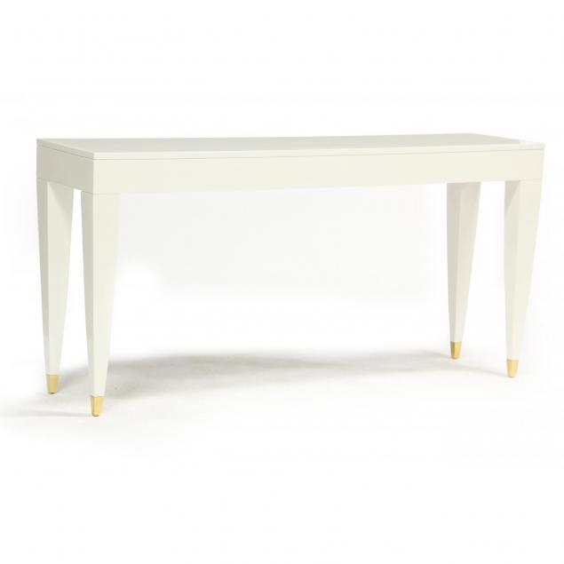 modernist-white-lacquer-console-table