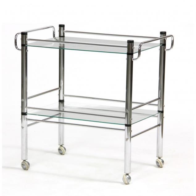 modernist-chrome-and-glass-bar-cart