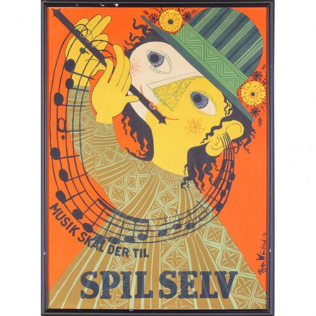 bjorn-wiinblad-danish-1918-2006-musik-skal-der-til-spil-selv-poster