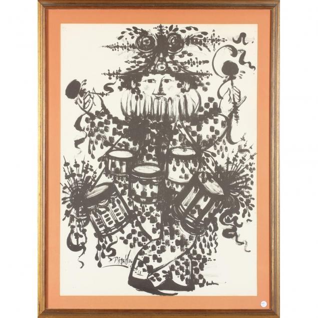 bjorn-wiinblad-danish-1918-2006-musician-poster
