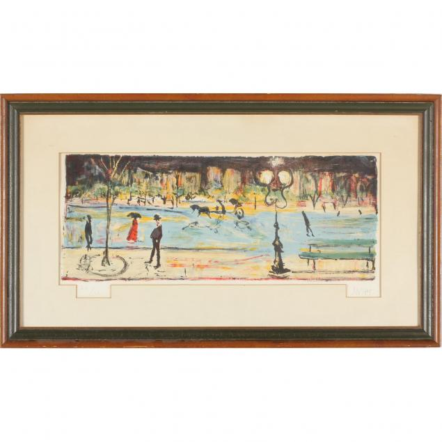 street-scene-lithograph-in-colors