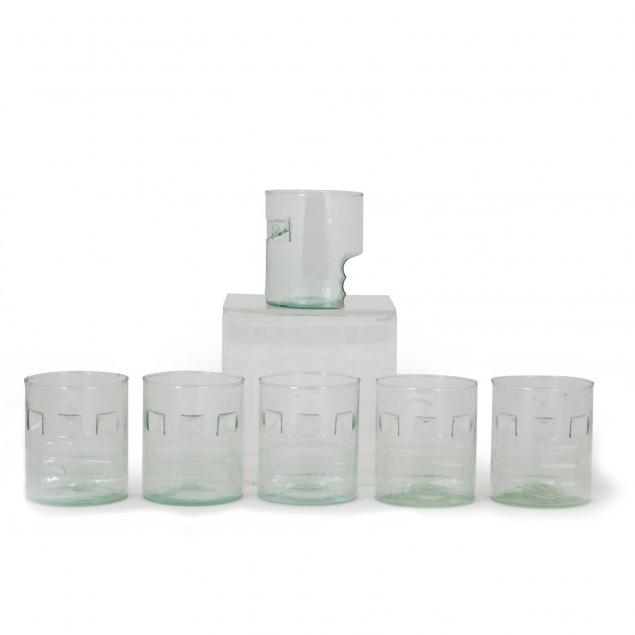 set-of-six-modernist-glass-tumblers