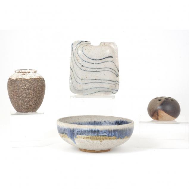 group-of-modernist-art-pottery