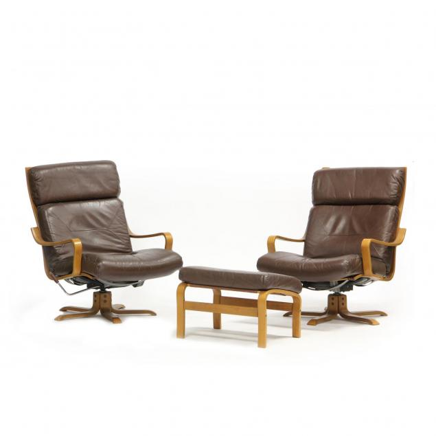 pair-of-danish-bentwood-lounge-chairs-and-ottoman