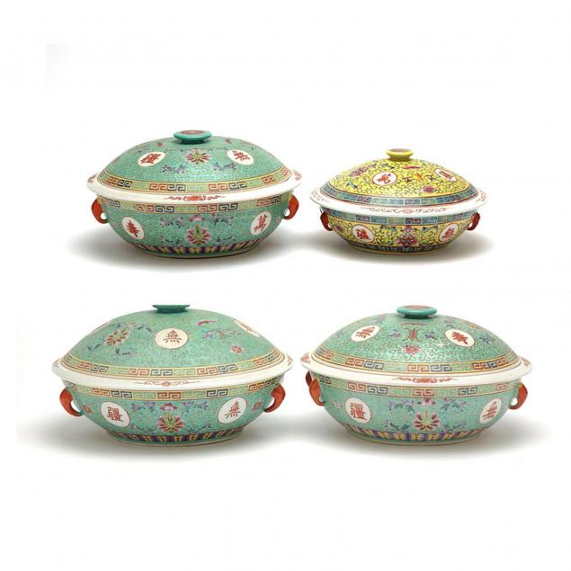 group-of-chinese-famille-jeune-and-verte-covered-bowls