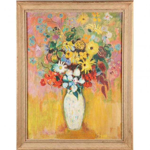 mid-20th-century-floral-still-life-painting