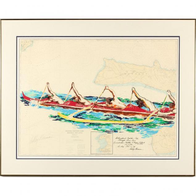 leroy-neiman-am-1921-2012-i-international-molokai-oahu-outrigger-canoe-race-i
