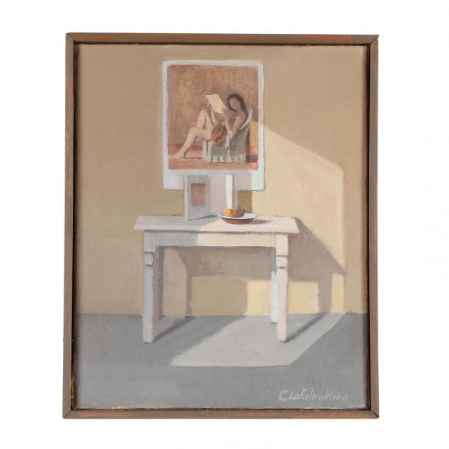 constance-lapalombara-ct-interior-with-balthus-poster