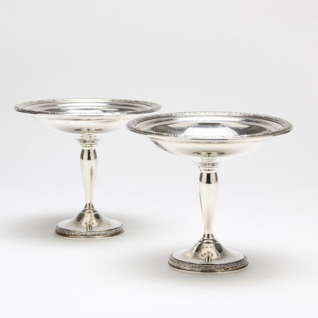 pair-of-international-prelude-sterling-silver-compotes