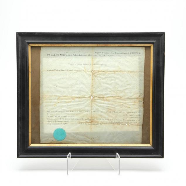 document-signed-by-edmund-randolph-as-virginia-governor