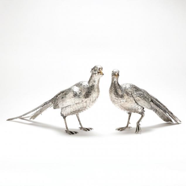 pair-of-large-italian-sterling-silver-pheasants