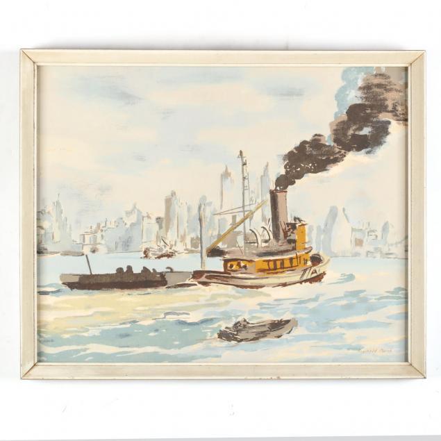reginald-marsh-am-1898-1954-i-tugboat-in-new-york-harbor-i