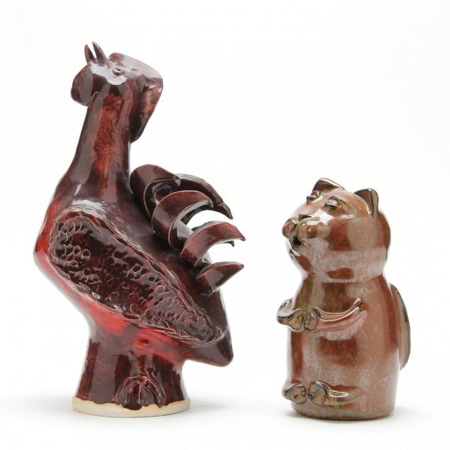 two-folk-art-animals-ram-pottery