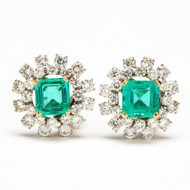 platinum-and-18kt-gold-emerald-and-diamond-earrings-van-cleef-arpels